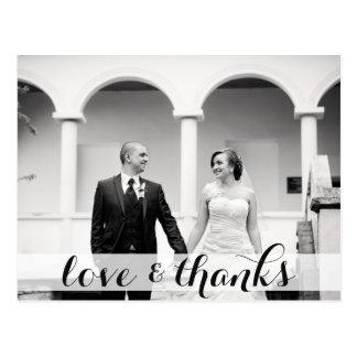 Postal Casandose gracias postal, ame y las gracias