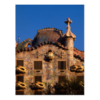 Postal Casas Batilo, arquitectura de Gaudi, Barcelona,