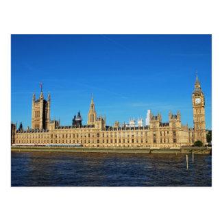Postal Casas británicas del parlamento y de Big Ben