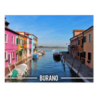 Postal Casas coloridas de Burano