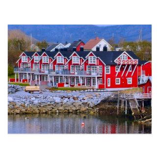 Postal Casas de la orilla del agua de Noruega, Bergen