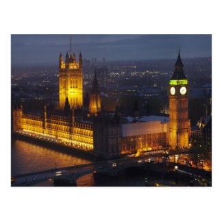 Postal Casas del parlamento, Big Ben, Westminster
