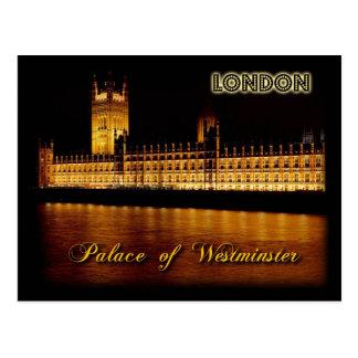 Postal Casas del parlamento, Londres