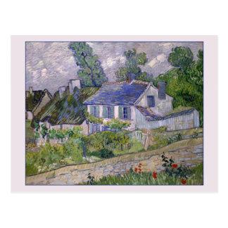 Postal Casas en Auvers de Van Gogh