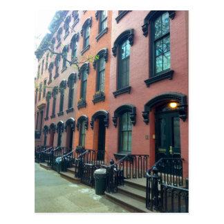 Postal Casas urbanas de NYC, calle del E. décimo octavo,