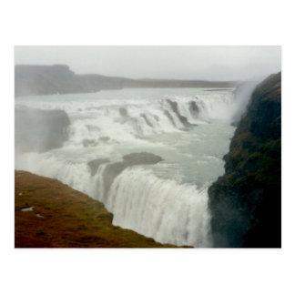 Postal Cascada de Gullfoss, Islandia
