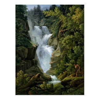 Postal Cascada en las montañas de Berna, 1796