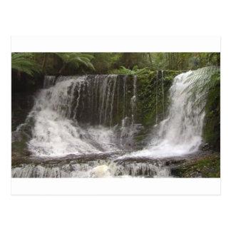 Postal Cascadas del oasis en Tasmania al sur de Australia