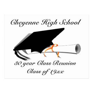 Postal Casquillo de la graduación - reunión de clase de