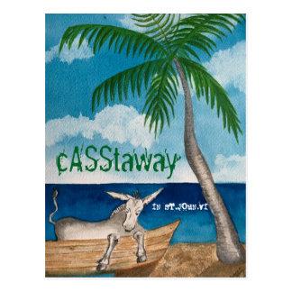 Postal Casstaway del burro