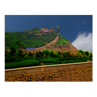 Postal Castillo costero de 1000 años de Penglai GE