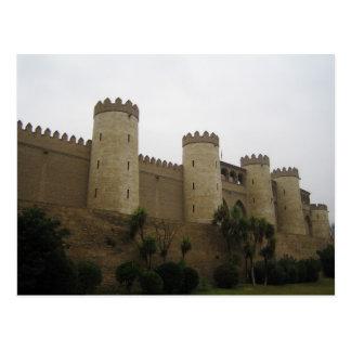 Postal Castillo de Aljaferia, Zaragoza, España