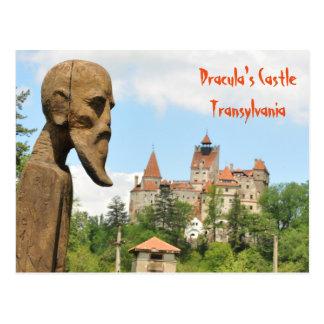 Postal Castillo de Drácula en el salvado, Brasov,