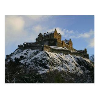 Postal Castillo de Edimburgo cubierto en nieve