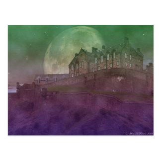 Postal Castillo de Edimburgo en la noche