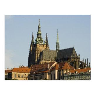 Postal Castillo de la catedral y de Praga del St. Vitus,
