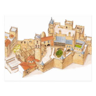 Postal Castillo de Olite. Navarra España