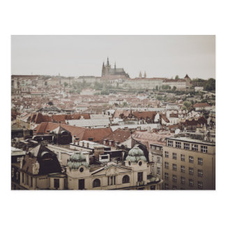 Postal Castillo de Praga en la ciudad de la República