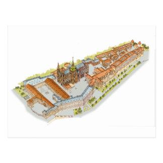 Postal Castillo de Praga. República Checa de Praga