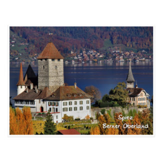 Postal Castillo de Spiez, Suiza/Schloss Spiez, Schweiz