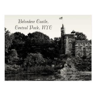 Postal Castillo del belvedere, Central Park NYC