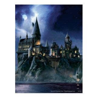 Postal Castillo el | Hogwarts iluminado por la luna de
