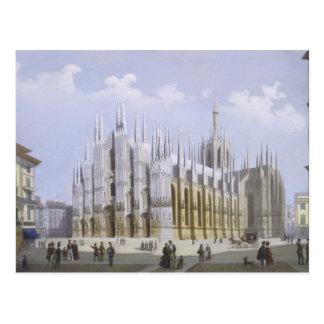 Postal Catedral de Milano de 'vistas de Milano y de su