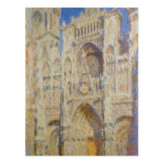 Postal Catedral de Ruán, porta en el Sun de Claude Monet