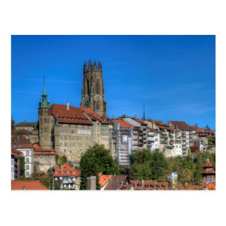 Postal Catedral de San Nicolás en Fribourg, Suiza