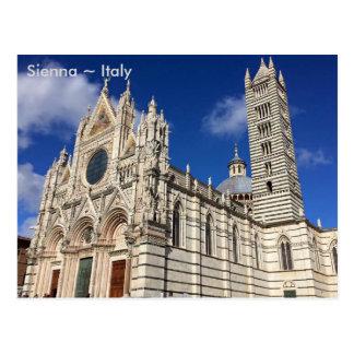 Postal Catedral de Santa María Assunta, tierra de Siena,