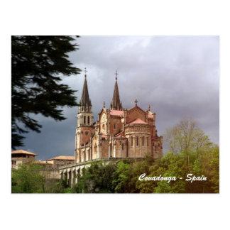 Postal Catedral Santa María La Real de Covadonga
