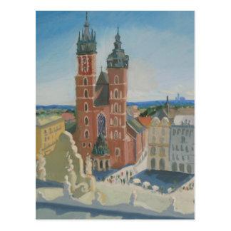Postal Catedral soleada de Kraków
