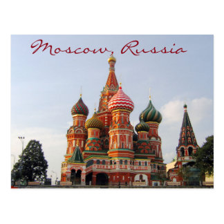 Postal Cathedrale de Moscú de la albahaca famosa del St.