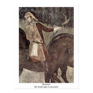 Postal Cazadores de Ambrogio Lorenzetti