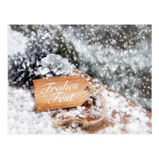 """Postal """"celebración Alegre"""" en la nieve"""