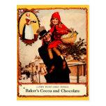 Postal Celebración del chocolate del navidad del vintage
