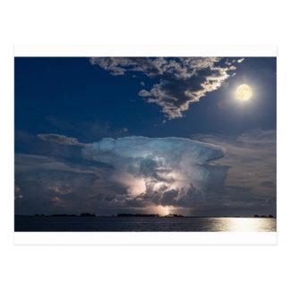 Postal Célula de la tempestad de truenos del relámpago