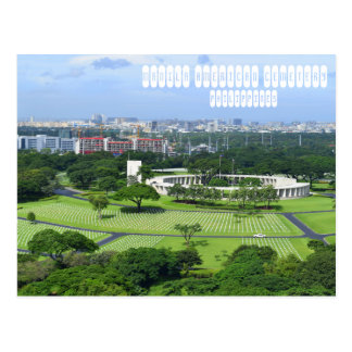 Postal Cementerio del americano de Manila