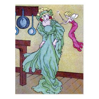 Postal Cenicienta y su madrina de Fairie