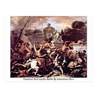 Postal Centaurs y Lapiths-Batalla de Sebastiano Ricci