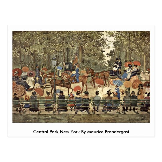 Postal Central Park Nueva York de Maurice Prendergast