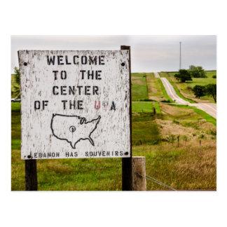 Postal Centro geográfico de los E.E.U.U. - Líbano, Kansas