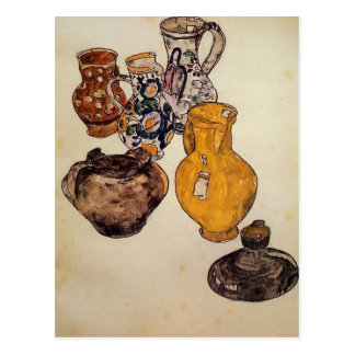 Postal Cerámica de Egon Schiele-