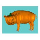 Postal Cerdo loco de Halloween