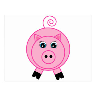 Postal Cerdo rosado