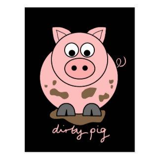 Postal Cerdo sucio