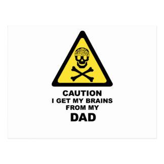 Postal cerebros de los papás