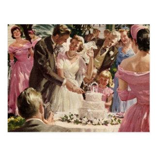 Postal Ceremonia de boda del vintage
