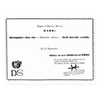 Postal certificado del legionario