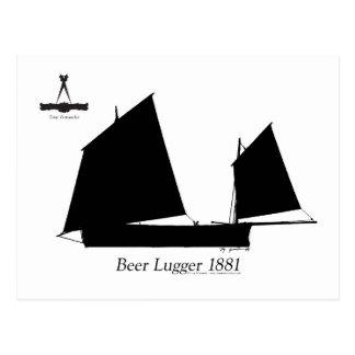 Postal Cerveza 1881 Lugger - fernandes tony